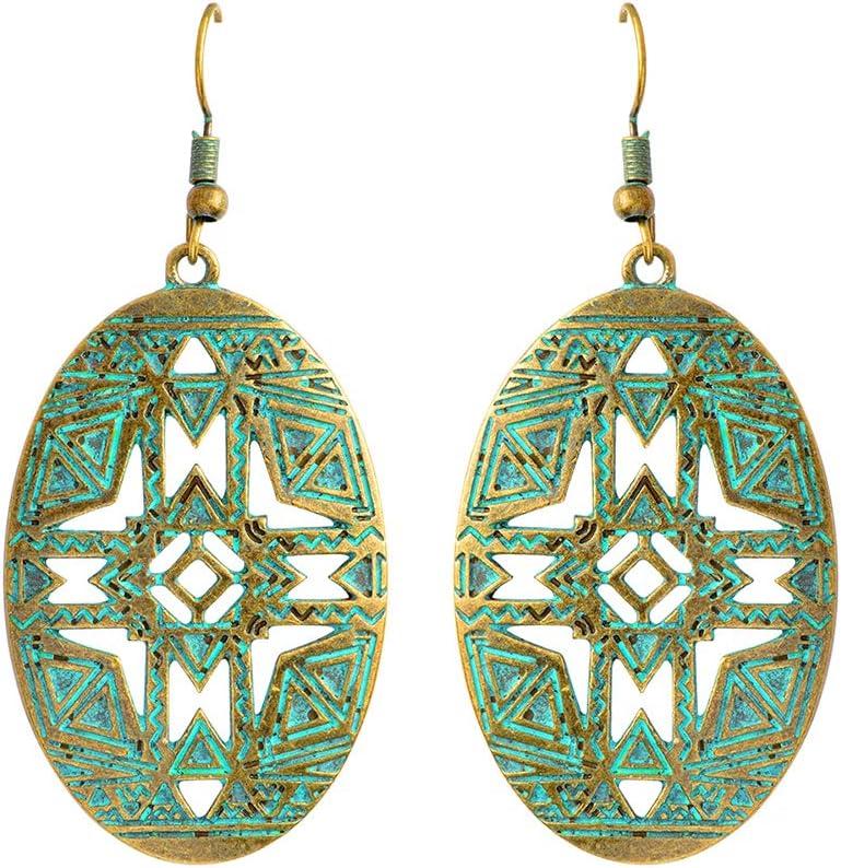 Topdo - Pendientes de Bola Hueca con diseño de Hojas Elegantes, Pendientes de Gota, para Mujer, niñas, Oro Rosa
