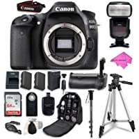 Canon EOS 80D Digital SLR Camera Bundle (Body Only) + SanDisk 64GB Ultra Class 10 SDHC UHS-I Memory Card + Wireless Shutter Release Remote + Camera Case + Free Premium Professional Accessory Bundle
