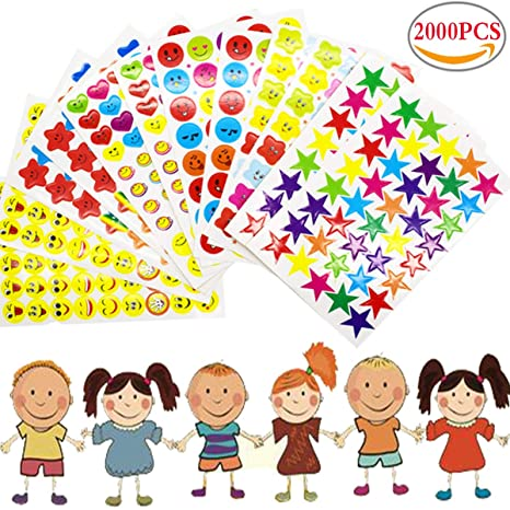 2000PCS Pegatinas Infantiles Manualidades,Liuer Stickers ...
