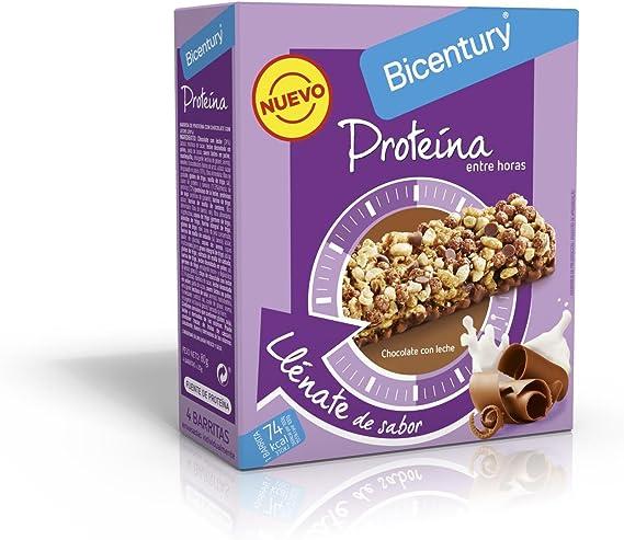 BICENTURY Proteína barrita de cereales con chocolate y leche caja ...