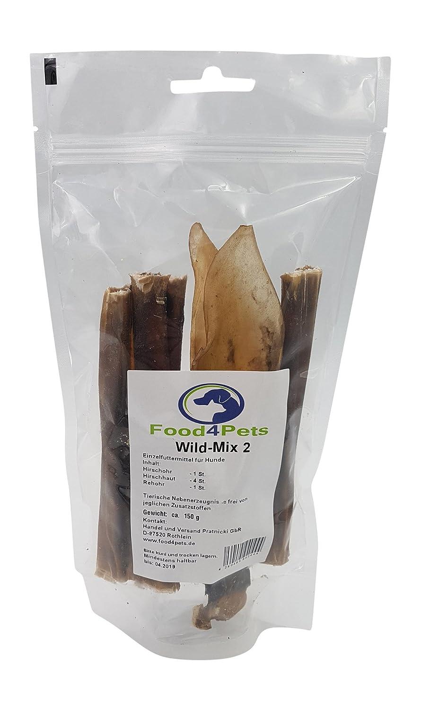 Food4Pets Wild Mix 2 Perros Fuga erli para perros. CONSTA DE ciervo de oído, ciervo, piel rehohr: Amazon.es: Productos para mascotas