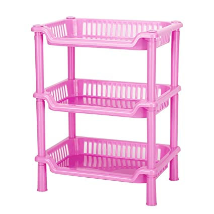 Amazon.com: Storage Shelves,Crystalbabey Plastic Storage Shelves3 ...