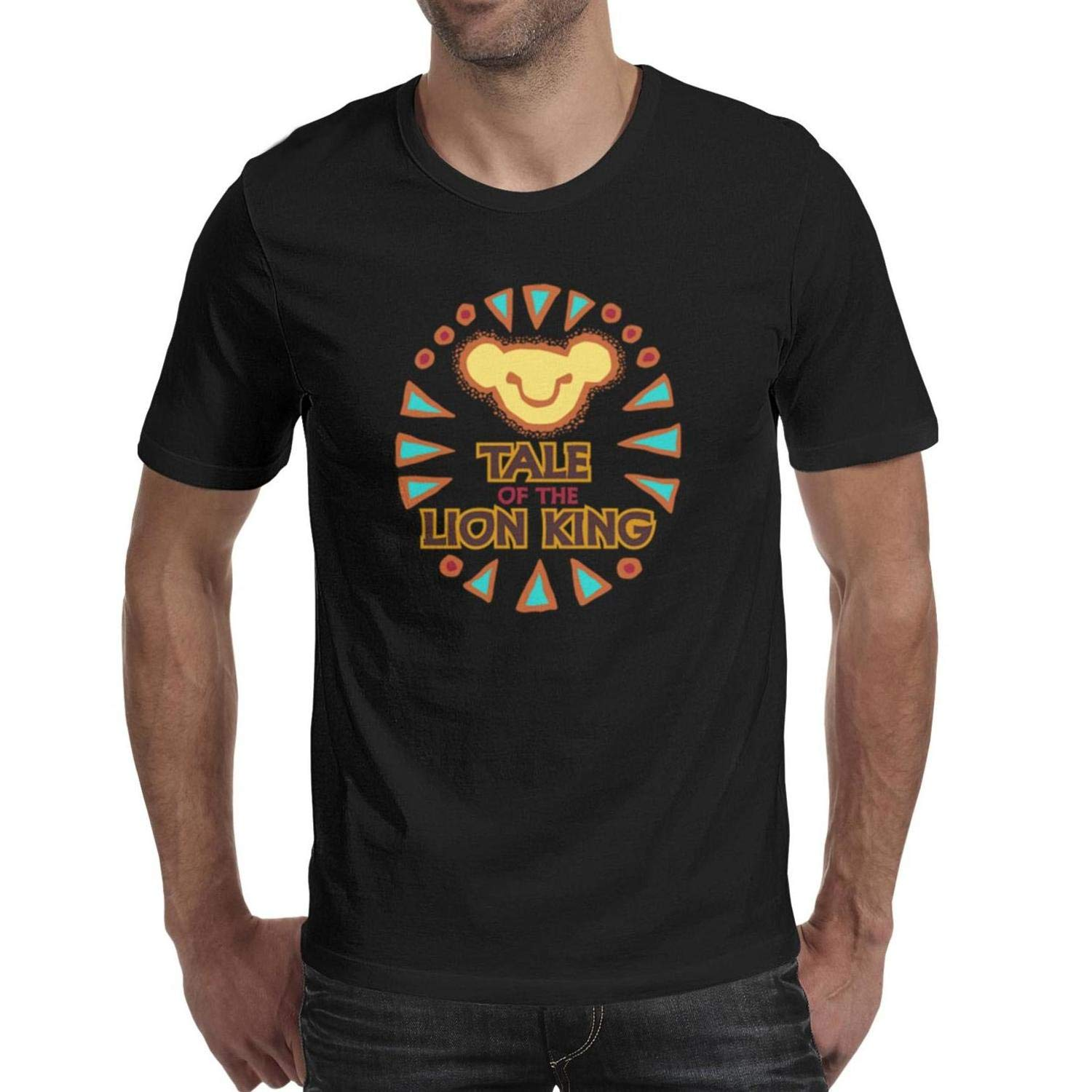 FengY Tale of The Lion King T Shirt Crewneck T-Shirt Short-Sleeve Cotton