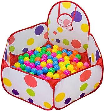 Amison - Piscina de bolas infantil con aro de baloncesto, diseño ...
