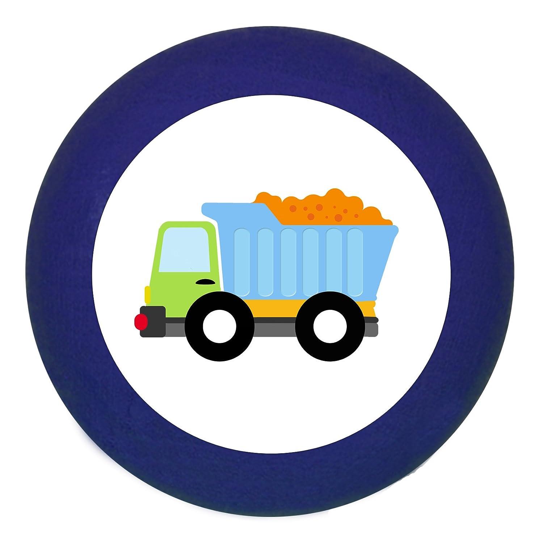 T/ürknaufLKW dunkelblau Holz Buche Kinder Kinderzimmer 1 St/ück Fahrzeuge Transportfahrzeuge Traum Kind