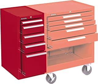 """product image for Kennedy Manufacturing 185XR 14"""" 5-Drawer Industrial Side Cabinet, Industrial Red"""