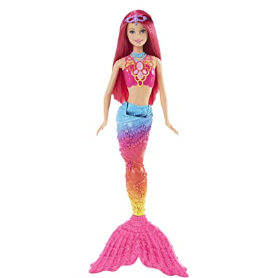 Barbie Mermaid Doll, Rainbow Fashion: Toys & Games