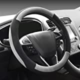 COFIT Plush Grey Steering Wheel Cover Universal Fit 38cm