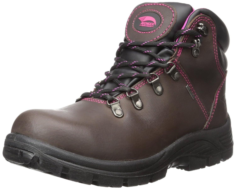 Avengerレディース7125レザー防水EH Slip Resistant Steel Toe Work Boot ブラウン 11 B(M) US  B00K0P9E4I