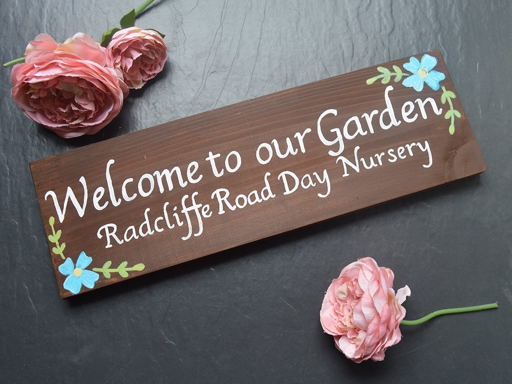 Personalised Exterior Flower Wooden House Name Sign | Cottage | Barn | Farm | Advertising Plaque | Wall | Business Sign | Outside | Rustic