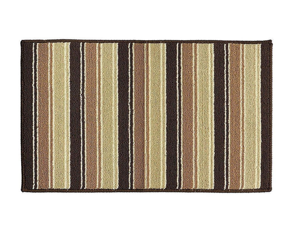 YK Decor Doormats Non-Slip Indoor Outdoor Door Mat with Latex Backing Inside Entrance Rugs Kitchen Dining Living Hallway Pet Entry Rugs (29.5'' x 17.7'', Brown-D) by YK Decor