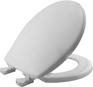 product image for MAYFAIR 80EC 000 Toilet Seat will Never Loosen and Easily Remove, ROUND, Long Lasting Plastic, White