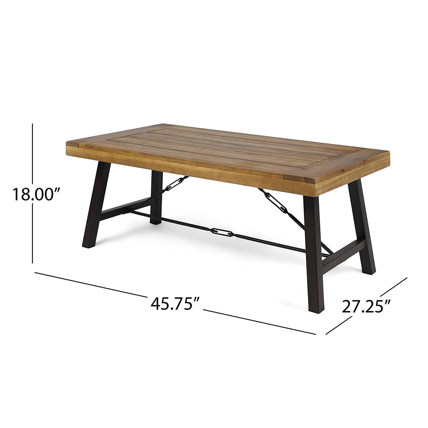 Amazon com great deal furniture easter outdoor acacia wood coffee table teak kitchen dining