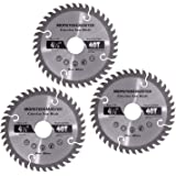 Monster&Master Metal Cutting Circular Saw Blade for Cutting MDF, Multilayer Boards, Wood Boards, Plastic PVC Pipes, Aluminum Profiles, Thin Iron Plates; 4-1/2-inch x 40T, MM-WPC-001x3