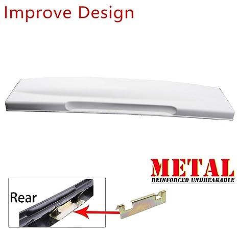 Rear Tailgate License Plate Shield Handle wit Metal Bracket For 02-05 Ford Explorer Black 2002 2003 2004 2005