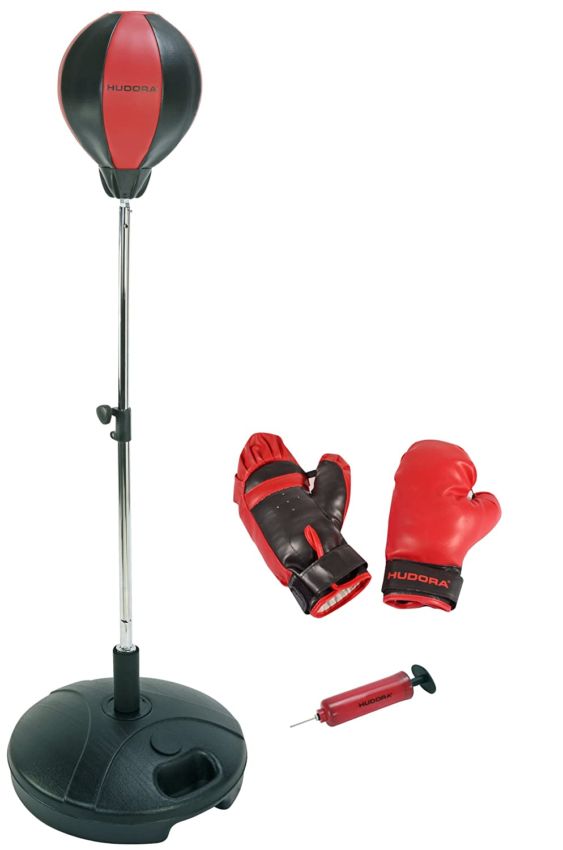 Hudora 74501/01 - Saco de boxeo con guantes y bombín