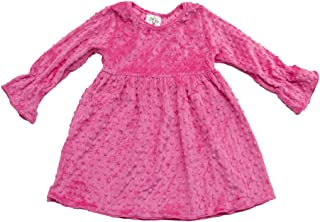 product image for Cheeky Banana Baby/Toddler Girls Minky Dot Dress - 10 Colors