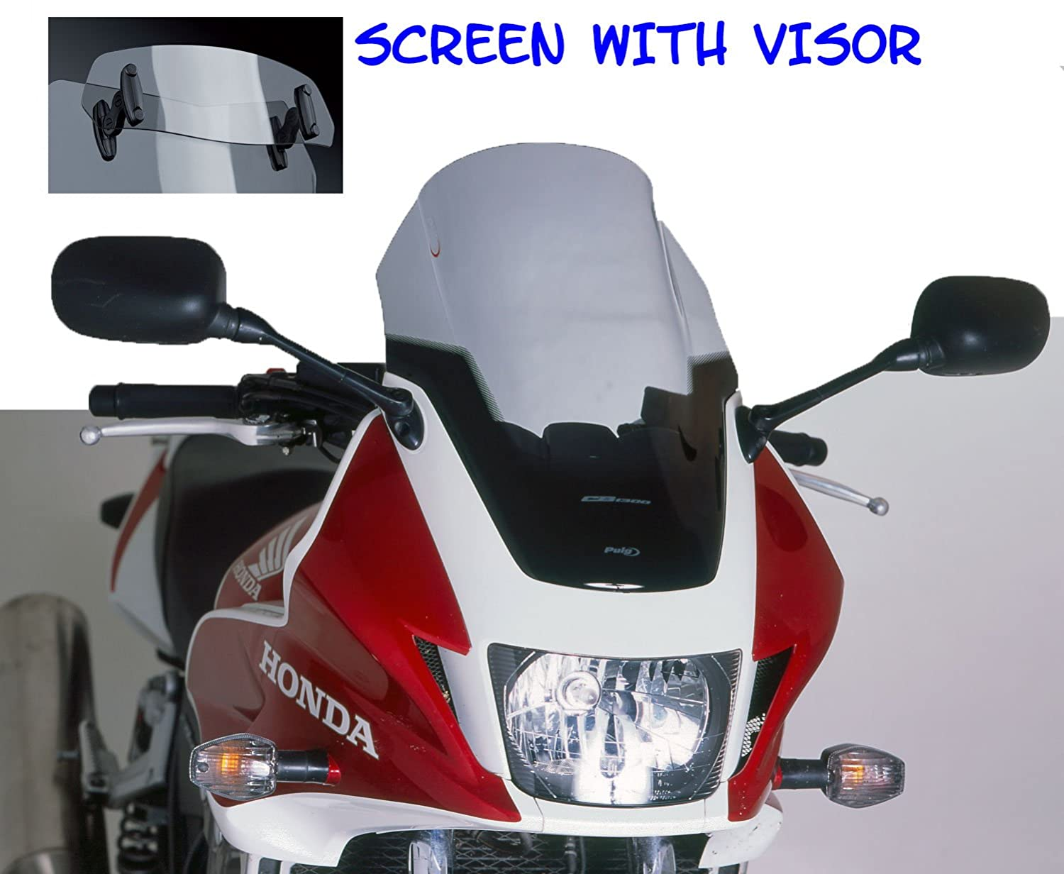 PUIG - 5900H/72 : Windshield screen touring with visor