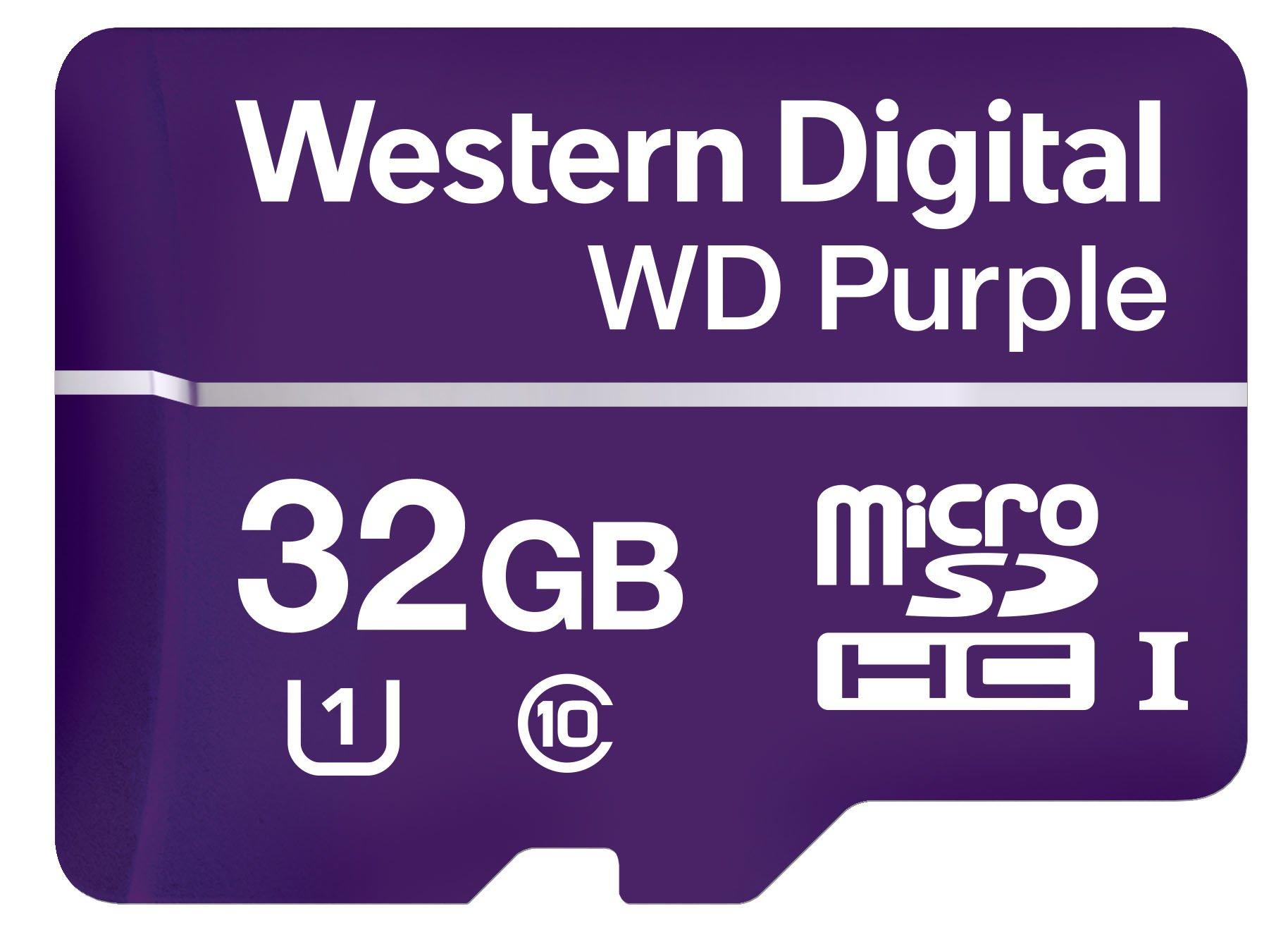 Western Digital WDD032G1P0A WD Purple 32GB Surveillance microSD Card
