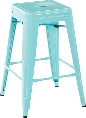OSP Home Furnishings Patterson 24-inch Metal Backless Barstool