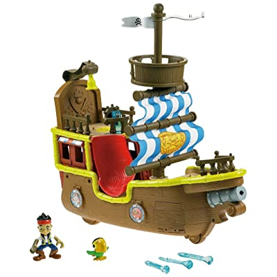 Fisher-Price Disney's Jake and The Never Land Pirates - Jake's Musical Pirate Ship Bucky [ Exclusive]: Toys & Games