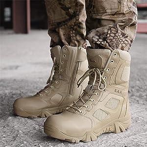 ailishabroy Botas Militares para Hombres Four Seasons ...