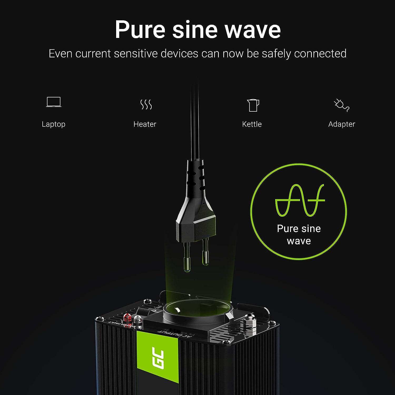 Green Cell/®1000W//2000W 12V auf 230V Reiner Sinus Volt kfz Spannungswandler Wechselrichter Konverter Pure Sine Wave Power Solar Inverter DC AC Umwandler /& HP Autozubeh/ör 20221 Batterie-Polklemmen-Set