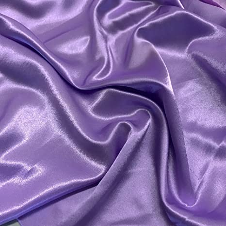 Sold By The Yard LIGHT BLUE Crape Back Satin Fabric 60 In