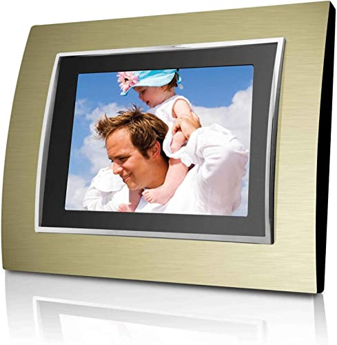Coby DP-887 8-Inch Digital Photo Frame with MP3 Player 2 Metal Frames