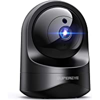 SUPEREYE 1080P Camara Vigilancia WiFi Interior, Cámara IP WiFi con Visión Nocturna, Detección de Movimiento, 10s vídeo…