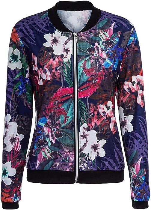 c700b39c91de CHARLES RICHARDS CR Women s Black Floral Zip up Bomber Jacket (Small ...