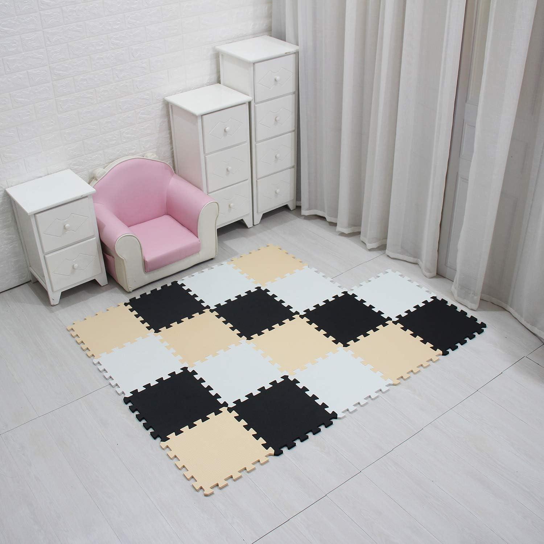 MQIAOHAM Children Puzzle mat Play mat Squares Play mat Tiles Baby mats for Floor Puzzle mat Soft Play mats Girl playmat Carpet Interlocking Foam Floor mats for Baby Orange Grey 102112