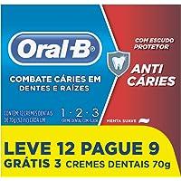 Creme Dental Oral-B, 70g, 12 unidades