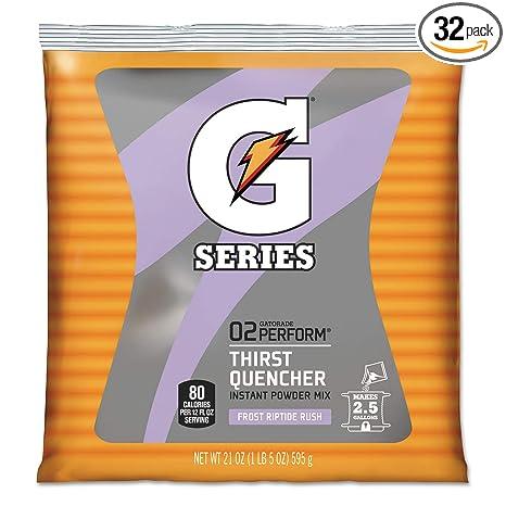 Gatorade 33673 Original Powdered Drink Mix Riptide Rush 21oz Packets 32/Carton