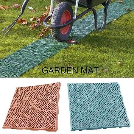 Piastre Da Giardino In Plastica.5 Tappetini Antiscivolo Per Pavimenti In Plastica Da Giardino