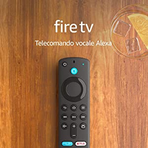 Telecomando vocale Alexa (3ª generazione) per Fire TV, con comandi per la TV – Richiede un dispositivo Fire TV compatibile | Modello 2021
