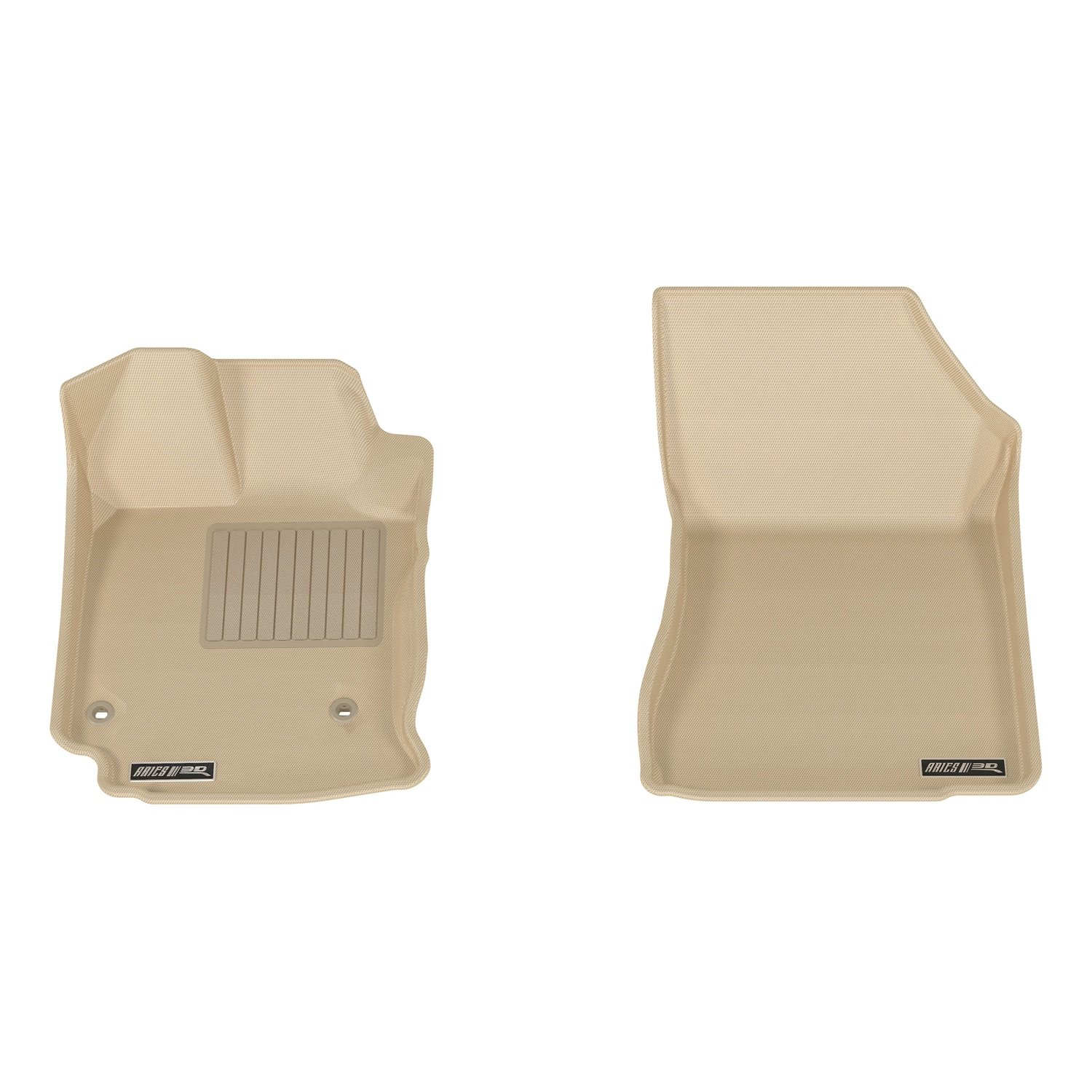 Aries TY13411502 Tan Front 3D Floor Liner 2 Piece