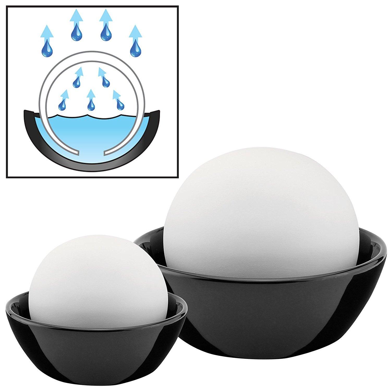 AMOS Atmos Sphere Air Humidifier Set of 2 Natural Eco Friendly Humidifying Decorative Water Stones
