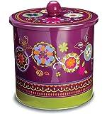Cooksmart Suzani Tin Biscuit Barrel, Tin, Multi-Colour