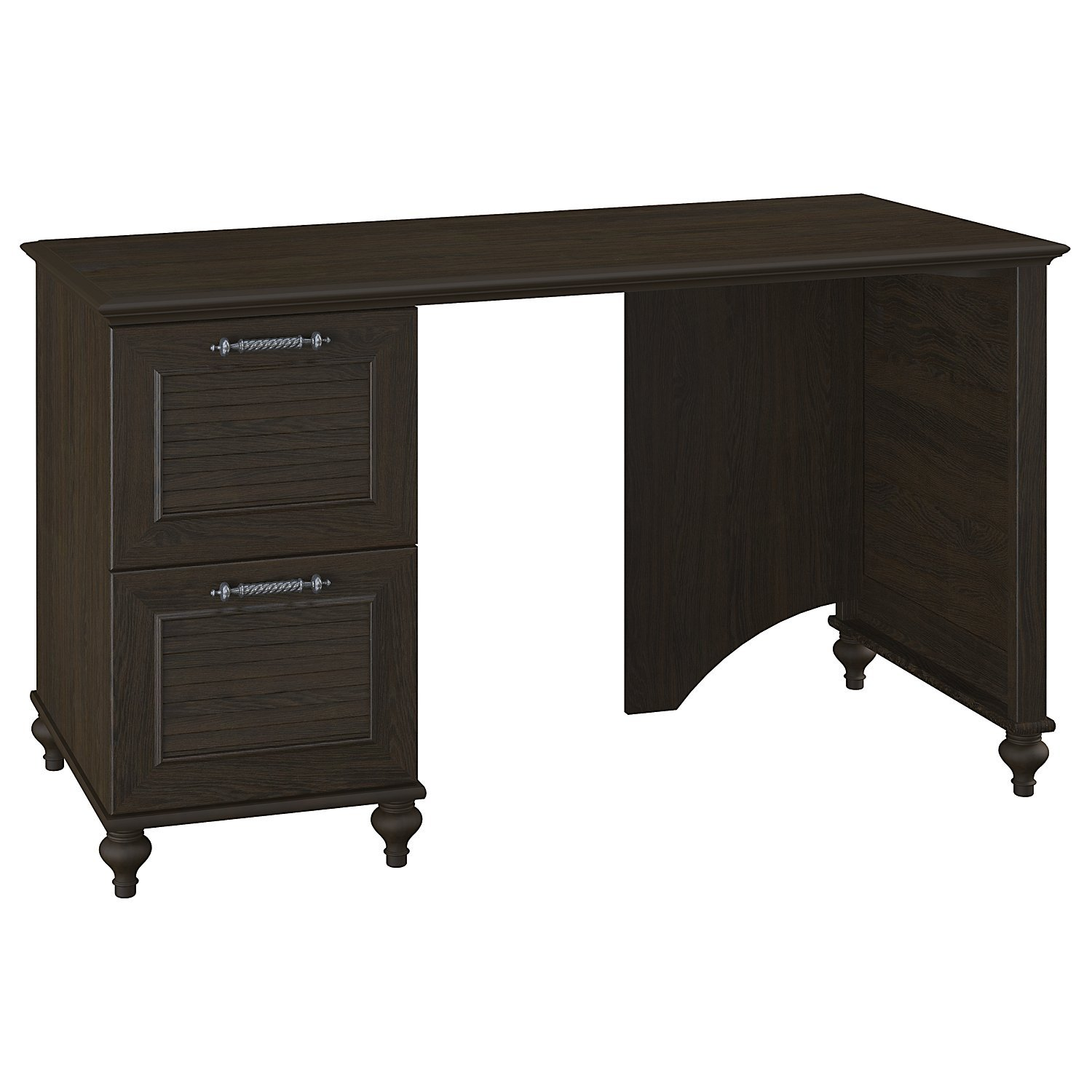 kathy ireland Office by Bush Furniture Volcano Dusk 51W Desk with Double File Drawers in Kona Coast