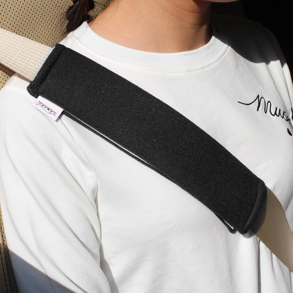 GAMPRO Car Seat Belt Pad Cover kit, 2-Pack Black