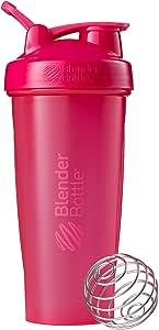 BlenderBottle Classic Loop Top Shaker Bottle, Full Color Pink, 28-Ounce Loop Top