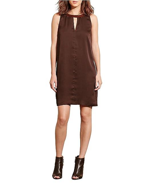 Lauren Ralph Lauren Charmeuse Shift Mini Dress (Size 4) Choclate Brown at  Amazon Women's Clothing store: