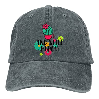 Shenigon Hand-Painted Cactus Flowering Unisex Cowboy Baseball Caps Dad Hats  Asphalt 1c48187ac9a