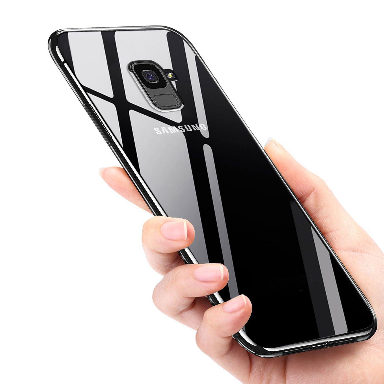 Mture Samsung Galaxy A8 Plus Handyhülle, Galaxy A8 Plus Hülle Kratzfeste TPU Case A8 Plus Bumper Case Ultra Dünn Anti-Scratch Tasche Schutzhülle für Galaxy A8 Plus Case Cover (clear)