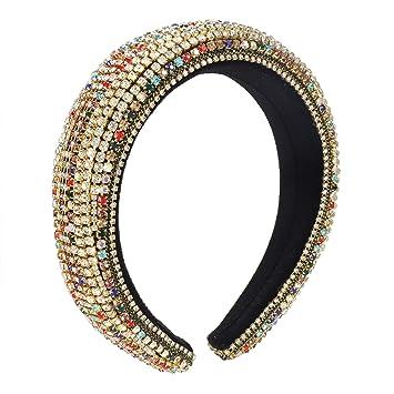 Women/'s Velvet Pearl Padded Headband Hairband Hair Hoop Accessories Crown Party