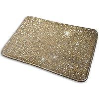 N\A FONSMAY Indoor Deurmat, Luxe Goud Glitter Zacht Gezellig Wasbaar Tapijt voor Bed Woonkamer Woondecoratie