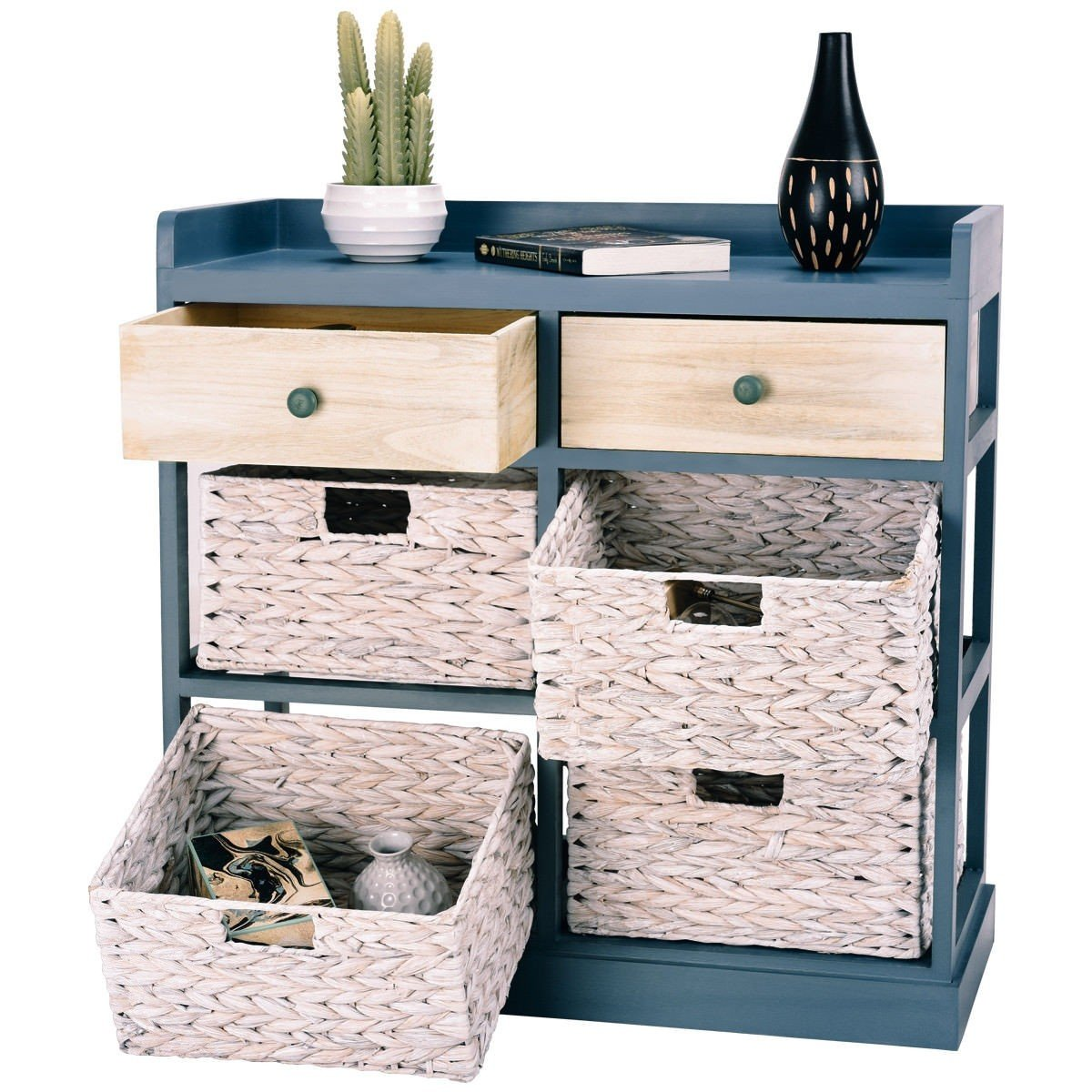 BESTChoiceForYou Cabinet Table Storage Side Wood Drawers Console Sideboard Cupboard W Furniture End Vidaxl White Baskets Drawer Door Home by BESTChoiceForYou (Image #5)