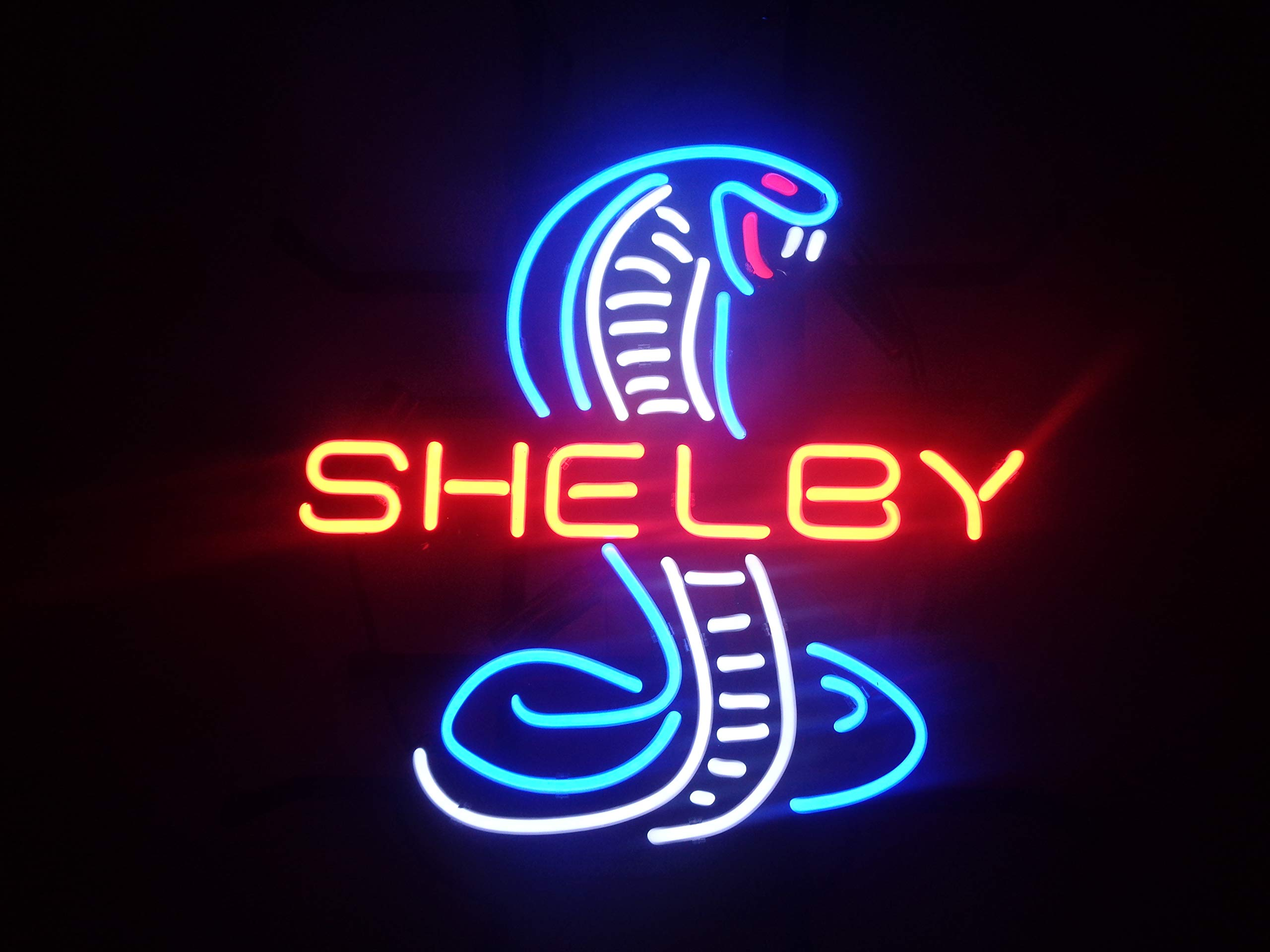 Shelby Neon Sign 17''x13'' Real Glass Neon Sign Light for Beer Bar Pub Garage Room.