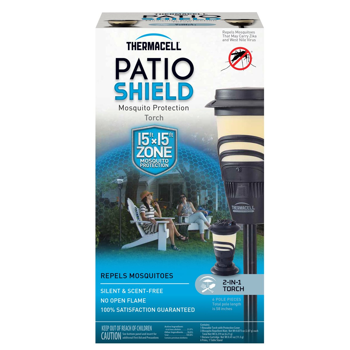 amazon com thermacell mosquito repellent patio shield torch